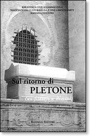 Cover Sul ritorno di Pletone (un filosofo a Rimini)
